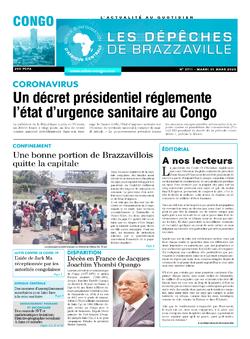 Les Dépêches de Brazzaville : Édition brazzaville du 31 mars 2020