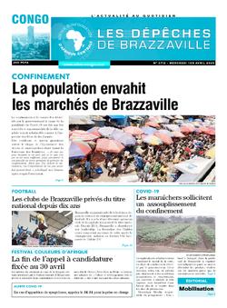 Les Dépêches de Brazzaville : Édition brazzaville du 01 avril 2020