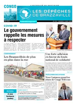 Les Dépêches de Brazzaville : Édition brazzaville du 03 avril 2020