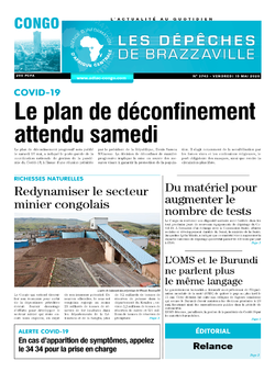 Les Dépêches de Brazzaville : Édition brazzaville du 15 mai 2020