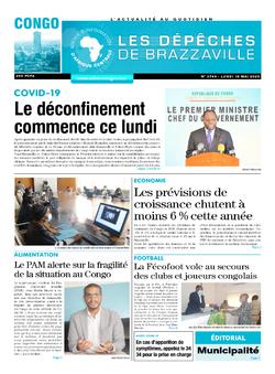 Les Dépêches de Brazzaville : Édition brazzaville du 18 mai 2020