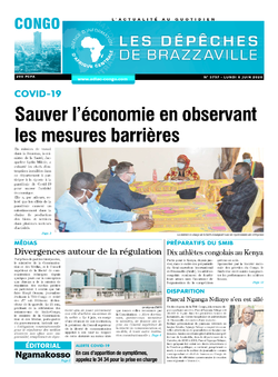 Les Dépêches de Brazzaville : Édition brazzaville du 08 juin 2020