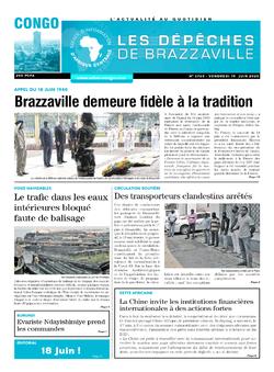 Les Dépêches de Brazzaville : Édition brazzaville du 19 juin 2020