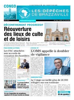 Les Dépêches de Brazzaville : Édition brazzaville du 22 juin 2020