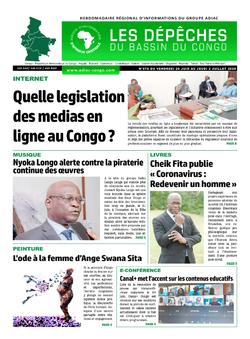 Les Dépêches de Brazzaville : Édition du 6e jour du 27 juin 2020