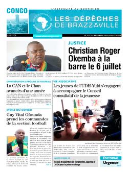 Les Dépêches de Brazzaville : Édition brazzaville du 01 juillet 2020