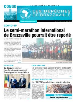 Les Dépêches de Brazzaville : Édition brazzaville du 09 juillet 2020