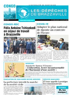 Les Dépêches de Brazzaville : Édition brazzaville du 16 juillet 2020