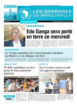 Les Dépêches de Brazzaville : Édition brazzaville du 22 juillet 2020