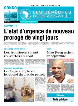 Les Dépêches de Brazzaville : Édition brazzaville du 27 juillet 2020