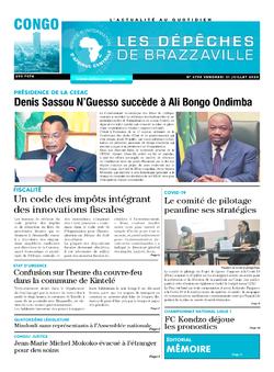 Les Dépêches de Brazzaville : Édition brazzaville du 31 juillet 2020