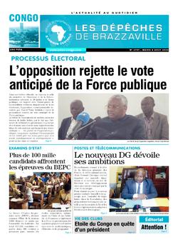 Les Dépêches de Brazzaville : Édition brazzaville du 04 août 2020
