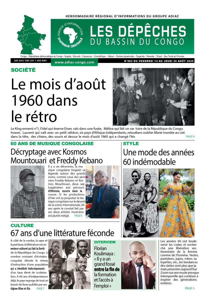 Les Dépêches de Brazzaville : Édition du 6e jour du 15 août 2020