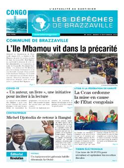 Les Dépêches de Brazzaville : Édition brazzaville du 08 septembre 2020