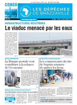 Les Dépêches de Brazzaville : Édition brazzaville du 10 septembre 2020