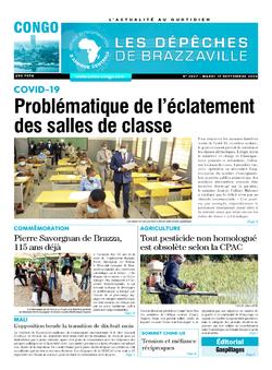 Les Dépêches de Brazzaville : Édition brazzaville du 15 septembre 2020