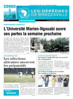 Les Dépêches de Brazzaville : Édition brazzaville du 18 septembre 2020