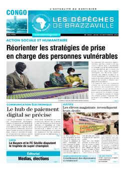Les Dépêches de Brazzaville : Édition brazzaville du 24 septembre 2020