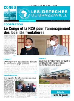 Les Dépêches de Brazzaville : Édition brazzaville du 01 octobre 2020