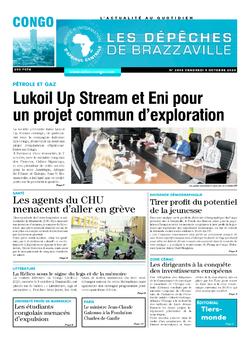 Les Dépêches de Brazzaville : Édition brazzaville du 09 octobre 2020