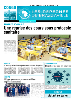 Les Dépêches de Brazzaville : Édition brazzaville du 12 octobre 2020