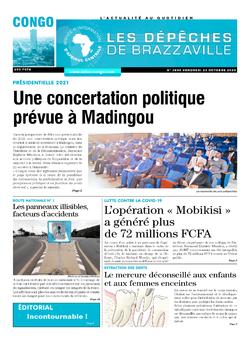 Les Dépêches de Brazzaville : Édition brazzaville du 23 octobre 2020