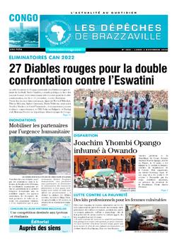 Les Dépêches de Brazzaville : Édition brazzaville du 02 novembre 2020
