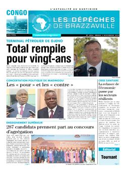 Les Dépêches de Brazzaville : Édition brazzaville du 03 novembre 2020