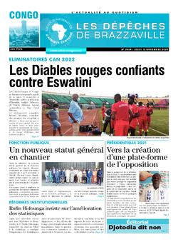 Les Dépêches de Brazzaville : Édition brazzaville du 12 novembre 2020
