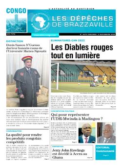 Les Dépêches de Brazzaville : Édition brazzaville du 13 novembre 2020