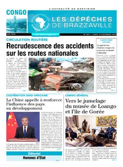 Les Dépêches de Brazzaville : Édition brazzaville du 16 novembre 2020