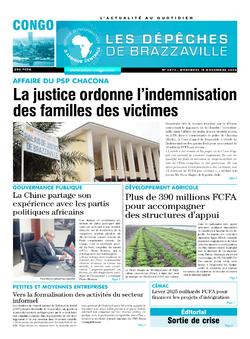 Les Dépêches de Brazzaville : Édition brazzaville du 18 novembre 2020