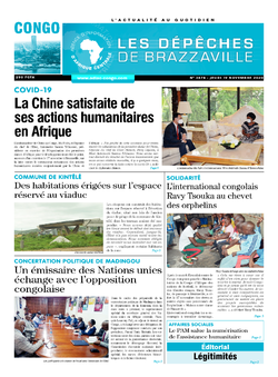 Les Dépêches de Brazzaville : Édition brazzaville du 19 novembre 2020