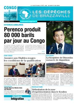 Les Dépêches de Brazzaville : Édition brazzaville du 20 novembre 2020