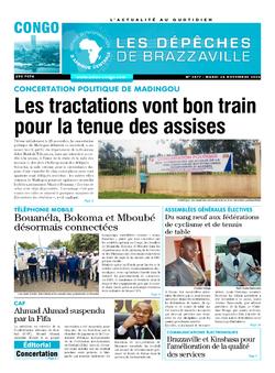 Les Dépêches de Brazzaville : Édition brazzaville du 24 novembre 2020
