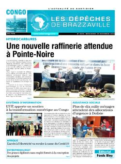 Les Dépêches de Brazzaville : Édition brazzaville du 25 novembre 2020