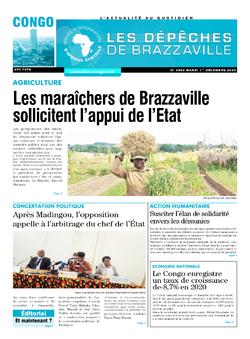 Les Dépêches de Brazzaville : Édition brazzaville du 01 décembre 2020