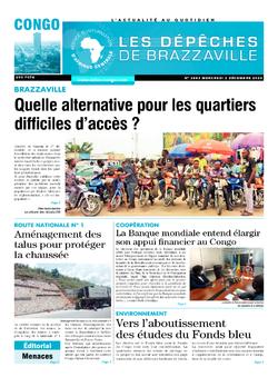 Les Dépêches de Brazzaville : Édition brazzaville du 02 décembre 2020