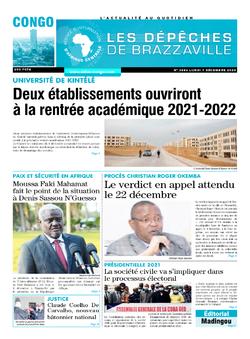 Les Dépêches de Brazzaville : Édition brazzaville du 07 décembre 2020