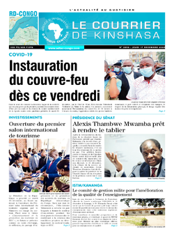 Les Dépêches de Brazzaville : Édition brazzaville du 17 décembre 2020