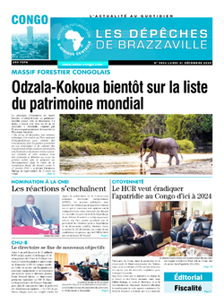 Les Dépêches de Brazzaville : Édition brazzaville du 21 décembre 2020
