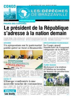 Les Dépêches de Brazzaville : Édition brazzaville du 22 décembre 2020