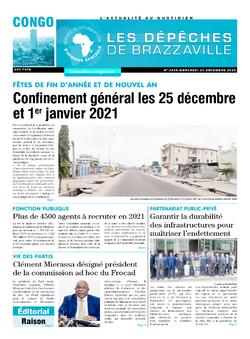 Les Dépêches de Brazzaville : Édition brazzaville du 23 décembre 2020