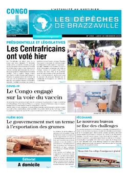 Les Dépêches de Brazzaville : Édition brazzaville du 28 décembre 2020