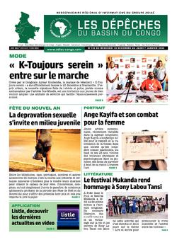 Les Dépêches de Brazzaville : Édition du 6e jour du 02 janvier 2021