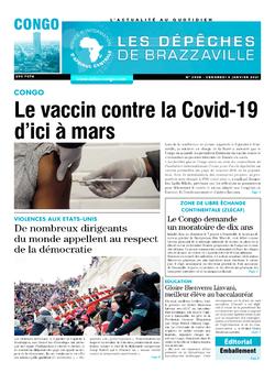 Les Dépêches de Brazzaville : Édition brazzaville du 08 janvier 2021