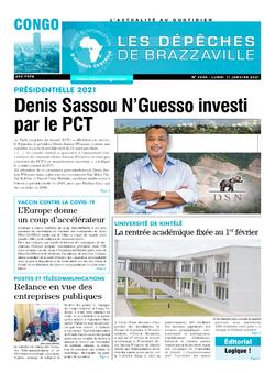 Les Dépêches de Brazzaville : Édition brazzaville du 11 janvier 2021