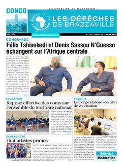 Les Dépêches de Brazzaville : Édition brazzaville du 12 janvier 2021