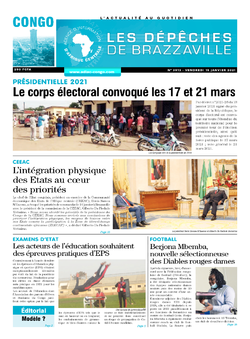 Les Dépêches de Brazzaville : Édition brazzaville du 15 janvier 2021