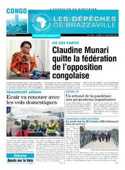 Les Dépêches de Brazzaville : Édition brazzaville du 18 janvier 2021